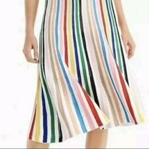 J Crew Rainbow 🌈 Stripe Pull-On Flare Skirt
